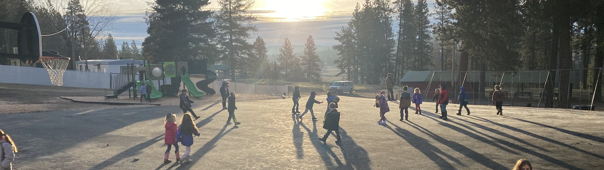 Students playing on playground at Potlatch Elementary